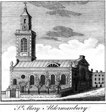 St Mary Aldermanbury before the Blitz