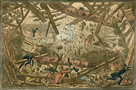 The falling of the New Brunswick Theatre, 28 February 1828